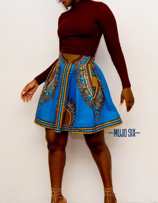 fccd61ca1c4b FORTUNE DASHIKI MINI SKIRT All Dashiki