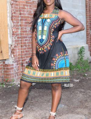 black halter top dressHot