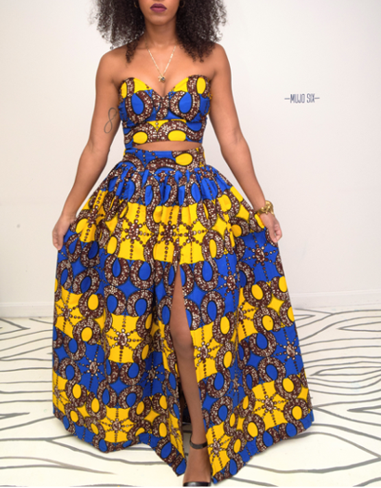 1000 Images About African Print 2 Piece Outfit On: LULU AFRICAN ANKARA PRINT MAXI TWO PIECE SET / W SLIT