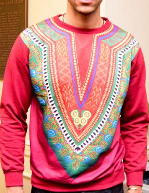 Dashiki African print sweatshirt